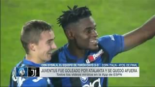 Atalanta eliminó a Juventus con doblete de Duván Zapata 3 - 0
