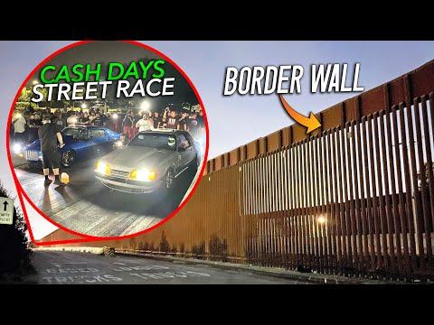 Street Racing at the Mexico BORDER - Police, Wheelies, and $16,000 Pot!