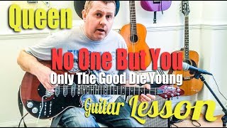 No One But You (Only The Good Die Young) - Queen - guitar tutorial (Guitar Tab)