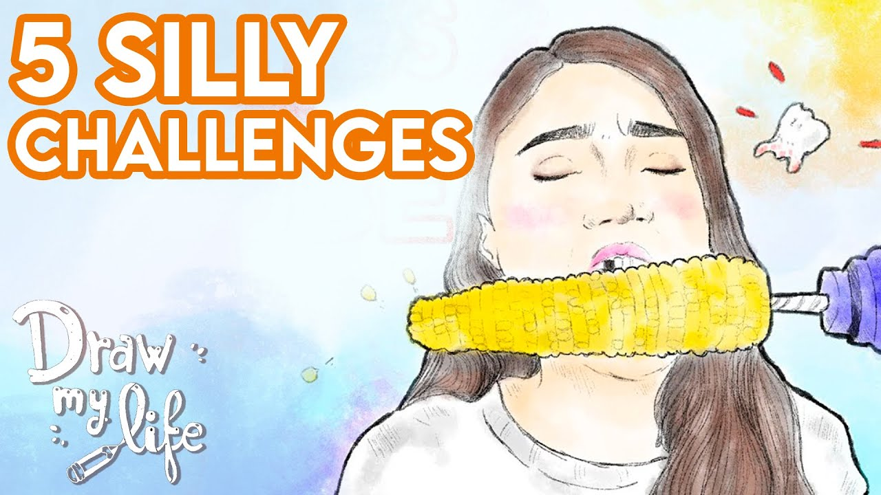 5 silly challenges I Viral Videos | Draw My Life