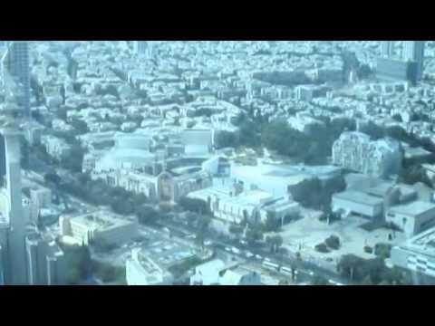 ווידאו נדיר: לראות את תל אביב, ישראל מלמעלה. כולל הסברים
