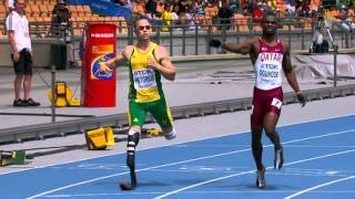 Arthur with Michael Johnson on Oscar Pistorius