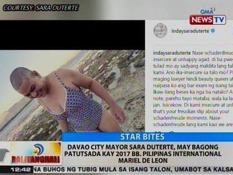 BT: Mayor Sara Duterte, may bagong patutsada kay 2017 Bb. Pilipinas International Mariel De Leon