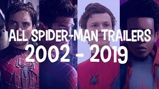 All Spider-Man Movie Trailers (2002 - 2019)
