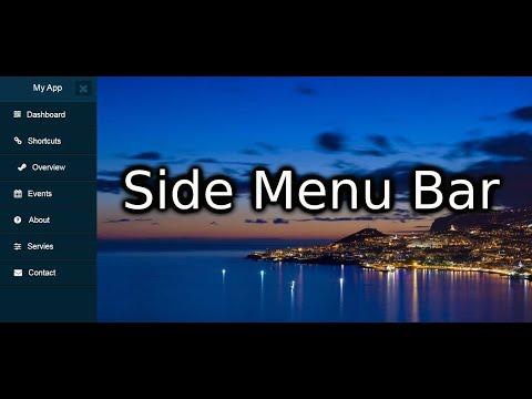 Side Menu Bar Html & Css Part 1