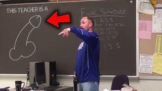 Cet élève dessine une B*** sur le tableau de son prof.. (TOP 5 PRANKS)