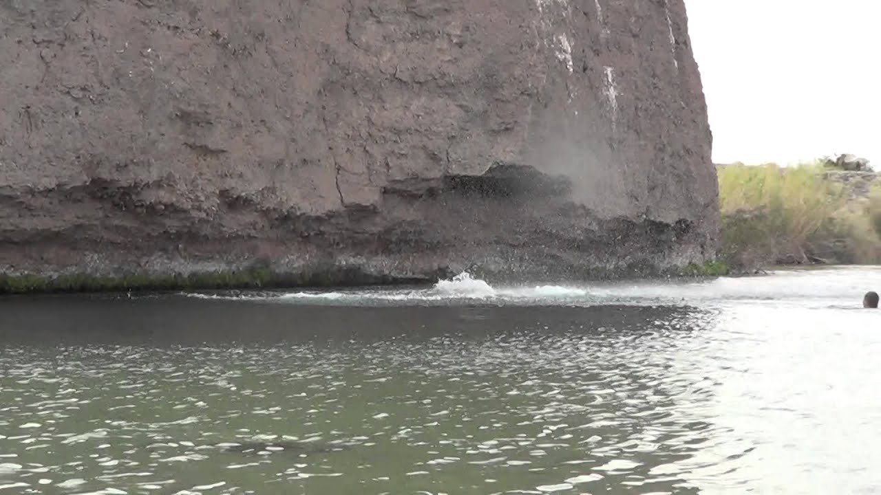 Ashley and Jake cliff jumping in Parker, AZ - YouTube