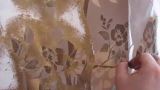 Декоративная венецианская штукатурка.Ремонт в детской.Отделка стен перламутровыми красками.3(В этом видео я показываю, как наносить декоративную перламутровую краску через трафарет...Декоративные..., 2016-04-11T17:55:22.000Z)