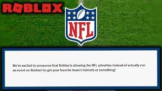 ROBLOX NFL Event - An Irrelevant Advertisement