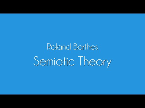Roland Barthes | Semiotic Theory Explained