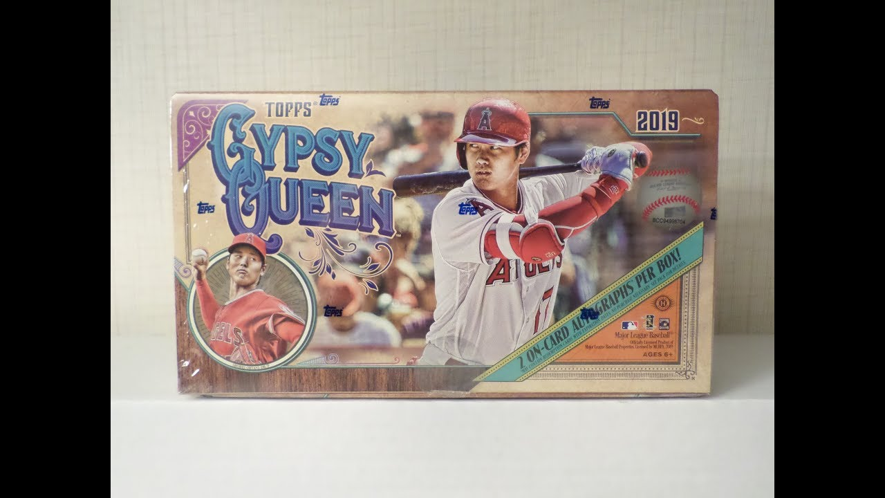 2019 Topps Gypsy Queen Baseball Hobby Box Mystery Redemption Auto
