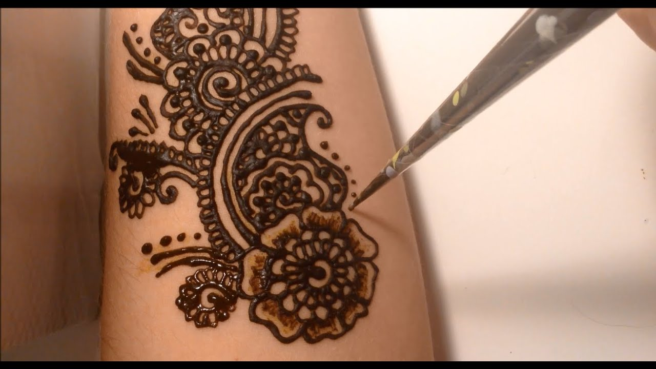 Easy Henna Tattoo Forearm: Simple Henna Design For Beginners On Arm / Henné Simple