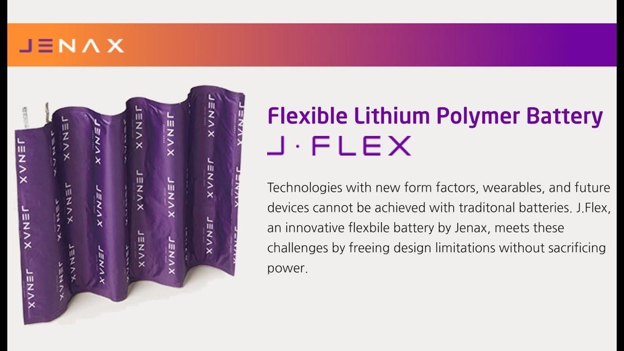 Resultado de imagem para Flexible Rechargeable Battery J.Flex