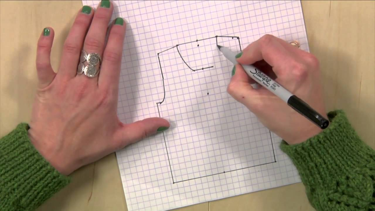Drawing Knitting Schematics : Knitting pattern schematics draw your own youtube