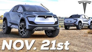 Tesla Pickup Truck unveiling is November 21st!