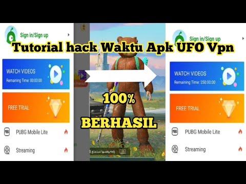 CARA HACK WAKTU SERVER PREMIUM UFO VPN - DIJAMIN 100% BERHASIL