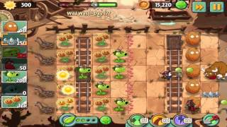 Plants vs Zombies 2: Wild West Day 17 Walkthrough