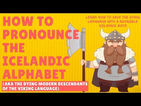 How to Pronounce the Icelandic Alphabet Including Ð and Þ | Voiced By 3 Adorable Icelandic Boys