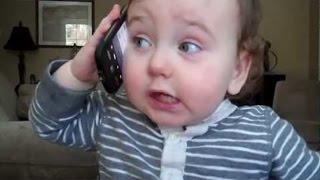 Babies Talking on the Phone 2014 [NEW HD]