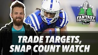 Fantasy Football 2018 - Trade Targets, Snap Count Surprises, Shark Bait - Ep. #615