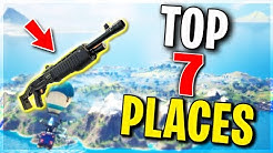 Top 7 BEST Places to Land For LOOT and EASY WINS.. Fortnite Chapter 2