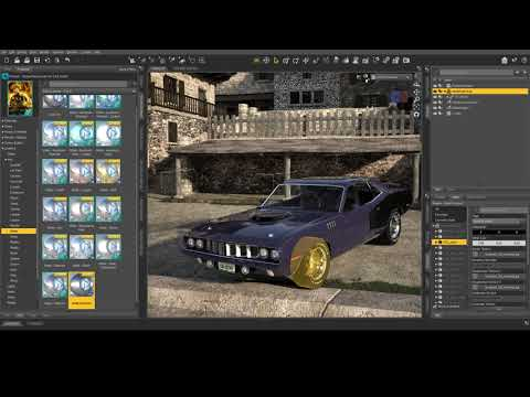 DAZ 3D Studio - Applying Shaders