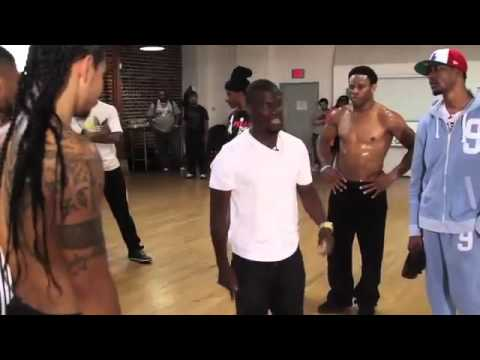 Kevin Hart Gives Chris Brown a Dance Lesson For The BET Awards