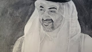 Sketch of H.H. Shaikh Mohammed Bin Zayid Al Nahyan - Asmasketches