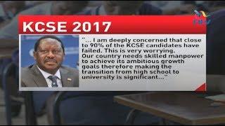 Raila Odinga wants inquiry into mass failure in KCSE 2017