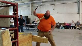 Guy Competes and Wins in Knife Competition