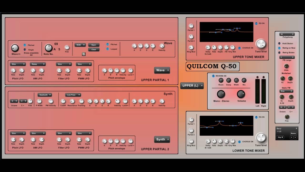Roland D-50 Synthesizer VST Emulation