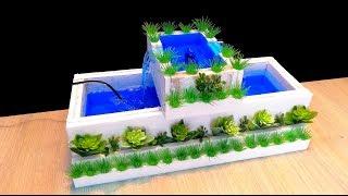 How to Make a mini Swimming pool Fountain / DIY
