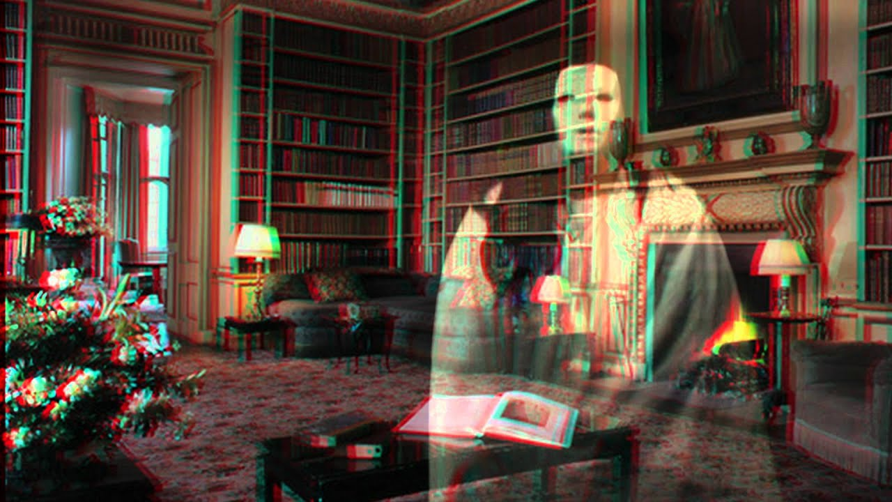 3d Red Blue Wallpaper 3d Ghost For Halloween Projection Anaglyph Youtube