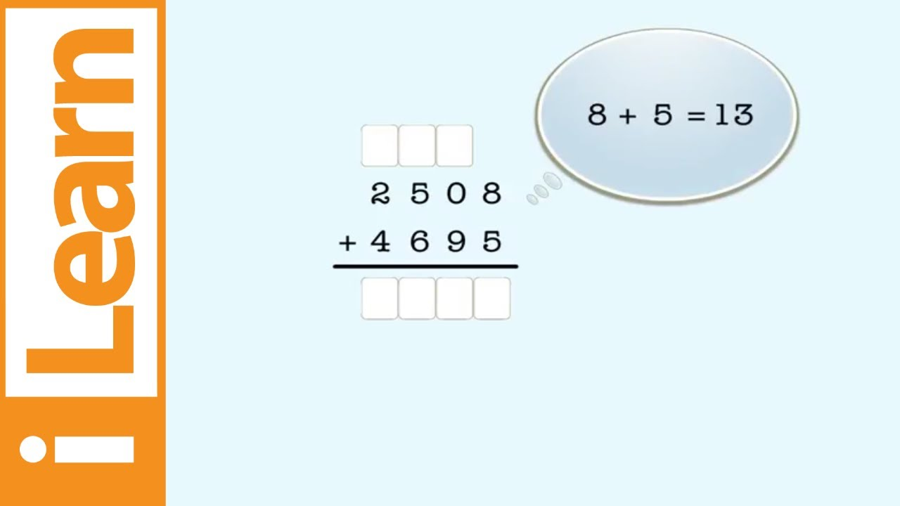 small resolution of Adding 4-digit numbers with regrouping - YouTube