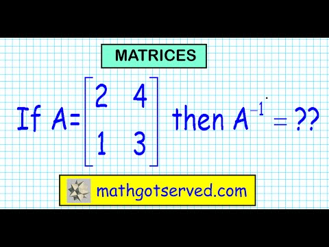finding inverses of a matrix verify multiplication of Identity A^-1 determinant