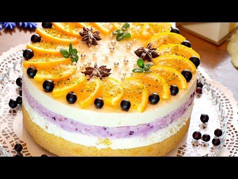 """""""Новогодний"""" торт-суфле с апельсинами и сливочным сыром!"""
