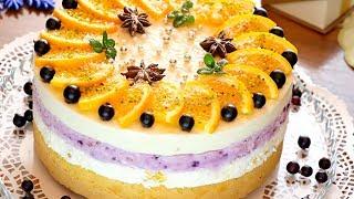 Новогодний торт суфле с апельсинами и сливочным сыром