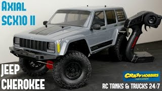 Axial SCX10 II Jeep Cherokee 1/10th Scale 4WD RTR - Unboxing & Detailed First Look