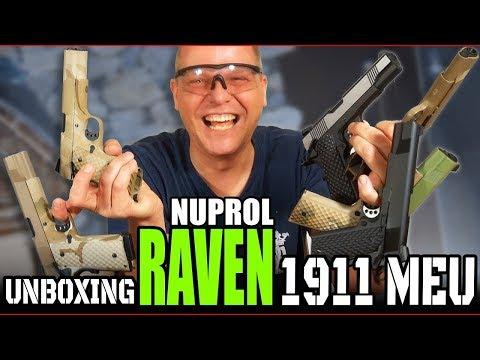 Nuprol Raven 1911 MEU GBB Airsoft Unboxing First try | Deutsch