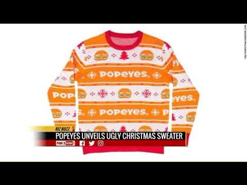 Jim E. Chonga - Popeye's Ugly Chicken Sandwich Christmas Sweater!