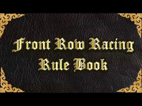 Front Row Racing Rule Book F1