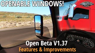ATS v1.37 - Open Beta (Walking Camera, Openable Windows, New Sounds, New Trailer)