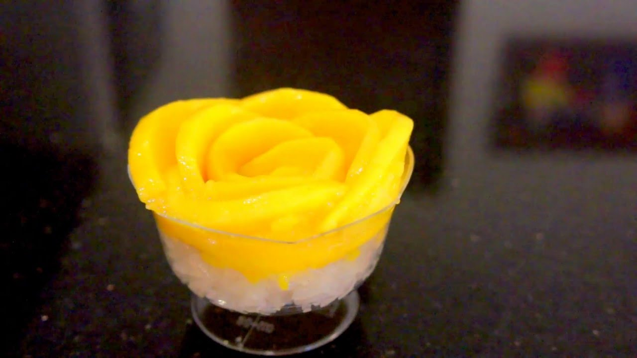 How to Make Rose from Mango - Cara Membuat Bunga dari buah ...