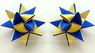 Sterne basteln: Fröbelstern - Basteln Weihnachten - Fröbelsterne Anleitung - Origami