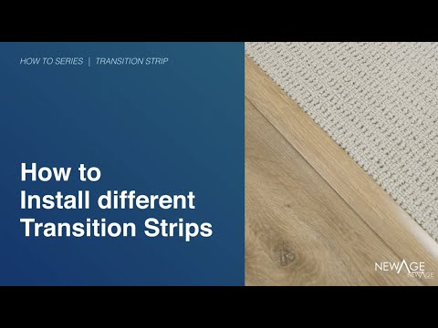 Flooring How To Install Transition Strip Or Reducer Youtube
