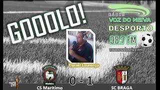 GOOOLO! .:. CS Marítimo - 0, SC BRAGA - 1,  | Taça CTT | 2016/2017