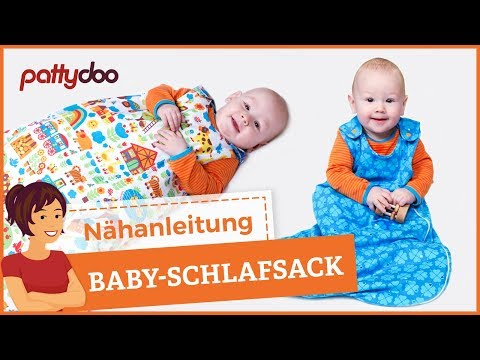 schlafsack f r babys und kleinkinder mit rei verschluss n hen youtube. Black Bedroom Furniture Sets. Home Design Ideas