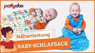 Schlafsack für Babys und Kleinkinder mit Reißverschluss nähen