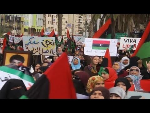 Libyan Women March In Support Of Rebellion