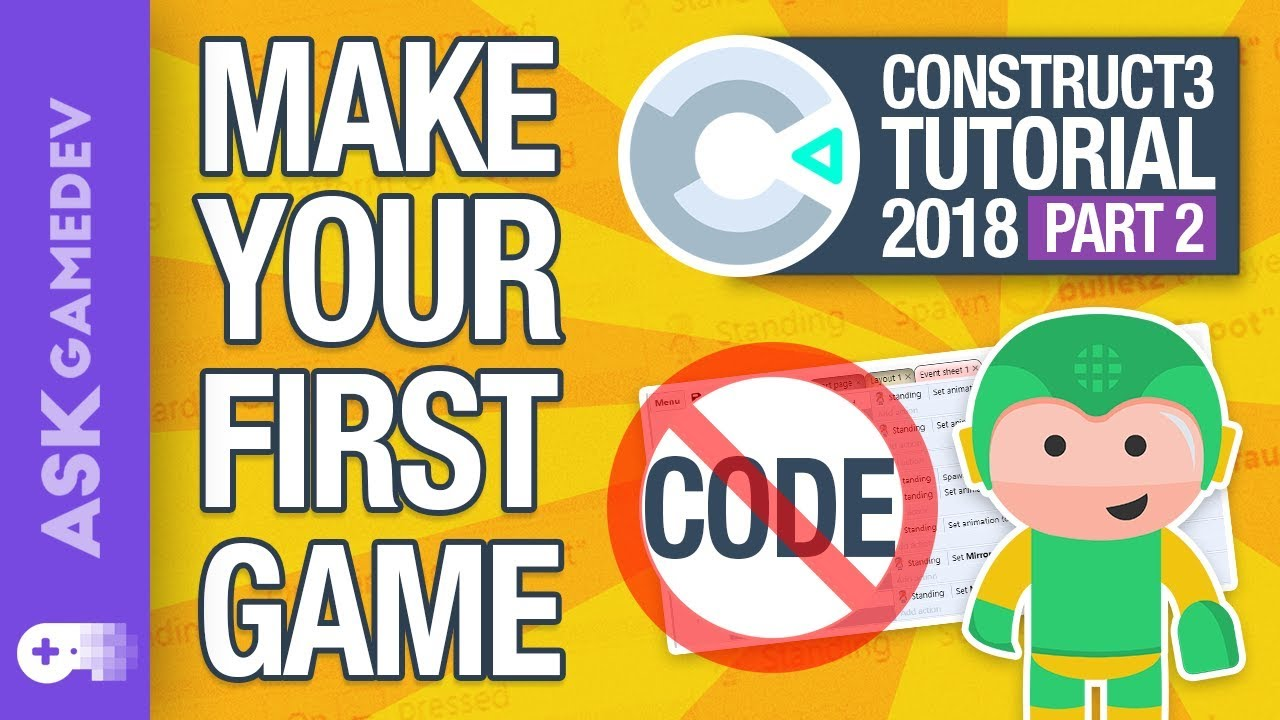 How to Make a Game without Coding in Construct 3